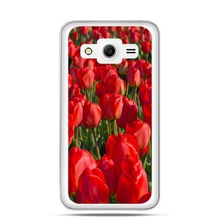 Etui na Galaxy Core 2 Czerwone tulipany