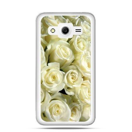 Etui na Galaxy Core 2 Białe róże