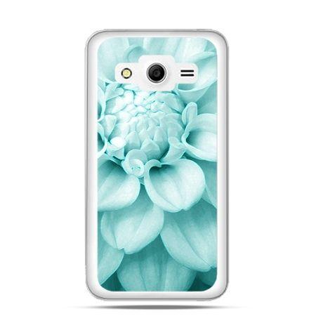 Etui na Galaxy Core 2 Niebieski kwiat dalii