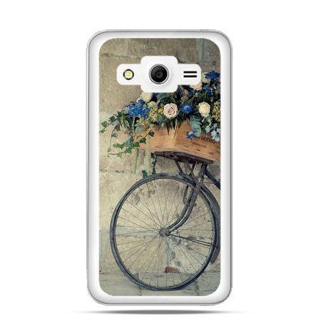 Etui na Galaxy Core 2 Rower z kwiatami