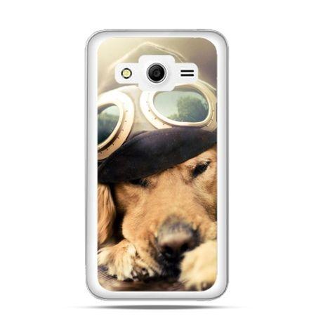 Etui na Galaxy Core 2 Pies w okularach