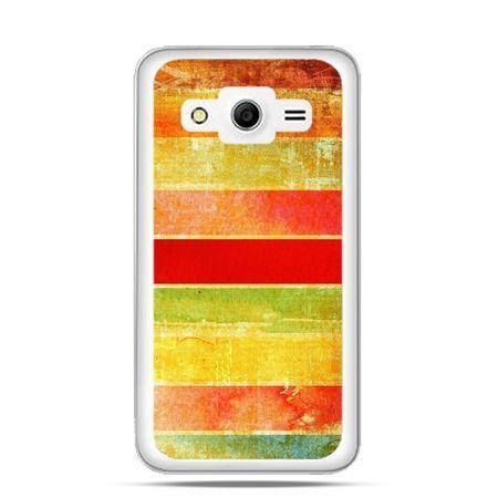 Etui na Galaxy Core 2 Kolorowe pasy