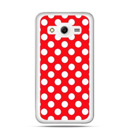 Etui na Galaxy Core 2 Czerwona polka dot