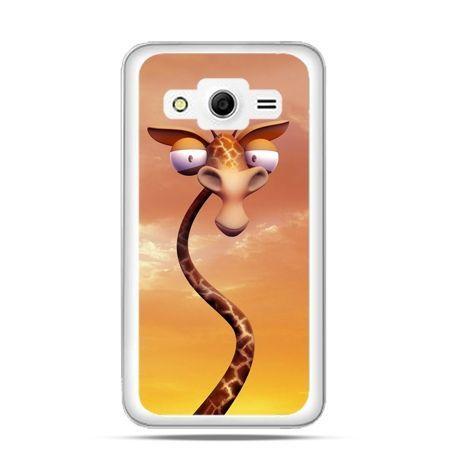 Etui na Galaxy Core 2 śmieszna żyrafa