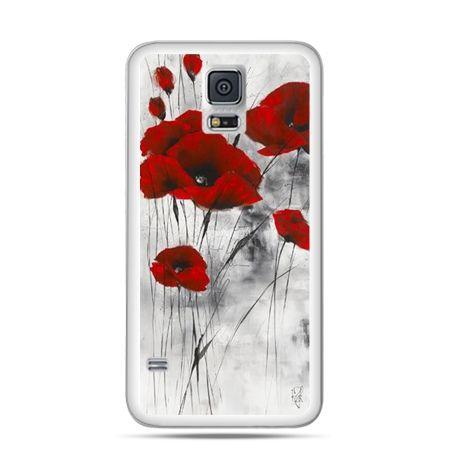 Etui na telefon Galaxy S5 mini Czerwone maki