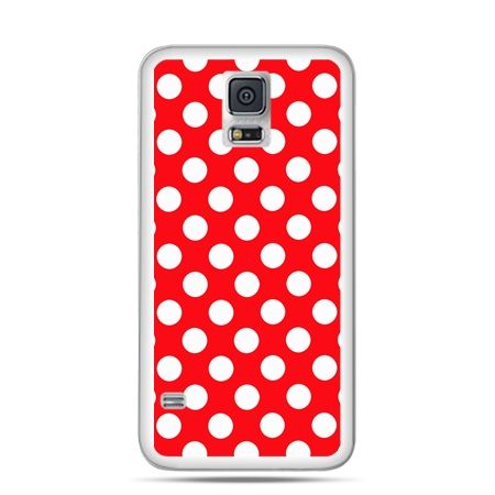 Etui na Samsung Galaxy S5 mini Czerwona polka dot