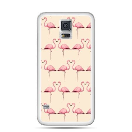 Etui na Samsung Galaxy S5 mini Flamingi