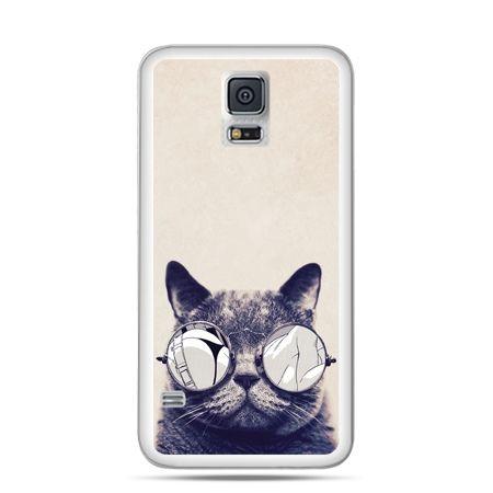 Etui na Samsung Galaxy S5 mini Kot w okularach