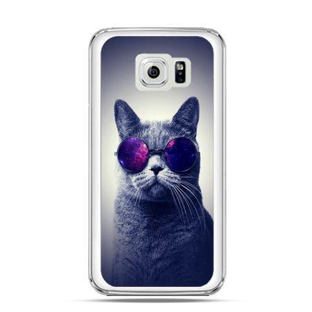 Etui na Galaxy S6 Kot hipster w okularach