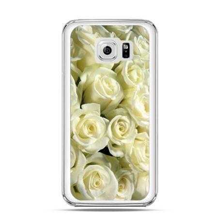 Etui na Galaxy S6 Edge Białe róże