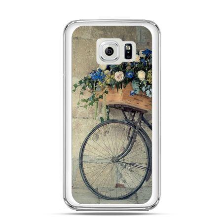 Etui na Galaxy S6 Edge Rower z kwiatami