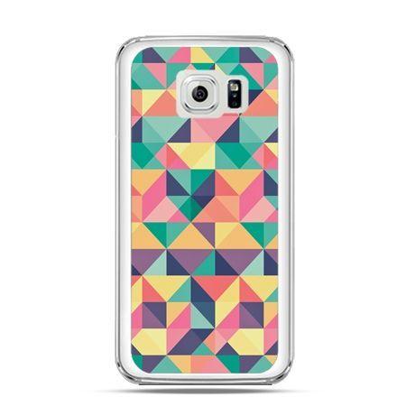 Etui na Galaxy S6 Edge Kolorowe trójkąty