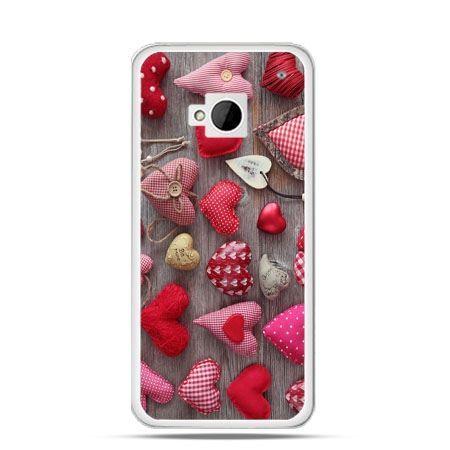 Etui na HTC One M7 Pluszowe serduszka
