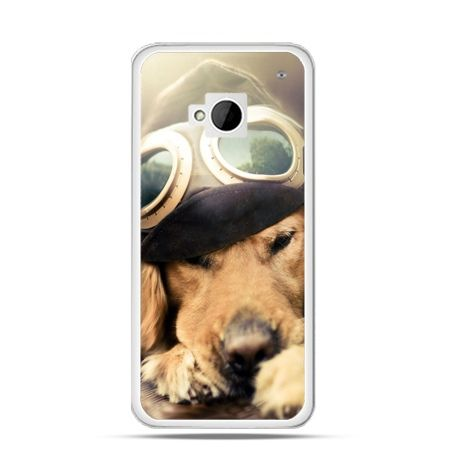 Etui na HTC One M7 Pies w okularach
