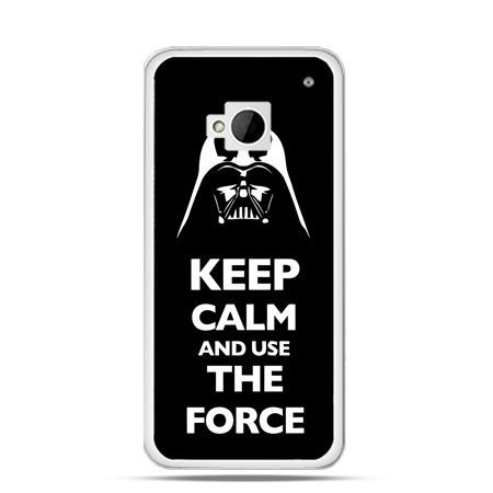 Etui na HTC One M7 Keep calm and use the force