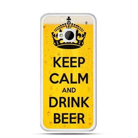 Etui na HTC One M7 Keep calm and drink beer