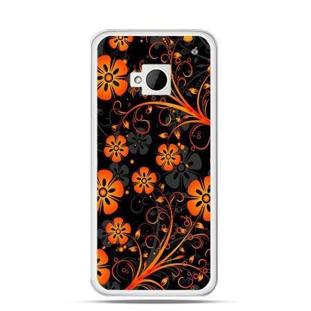 Etui na HTC One M7 Nocne kwiaty