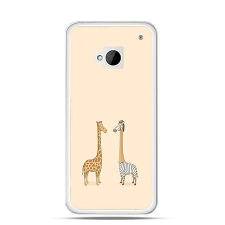 Etui na HTC One M7 żyrafy