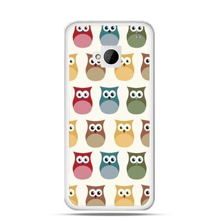 Etui na HTC One M7 Kolorowe sowy
