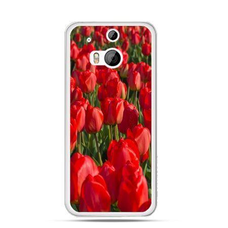 Etui na HTC One M8 Czerwone tulipany