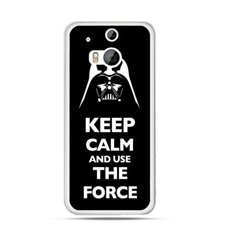 Etui na HTC One M8 Keep calm and use the force