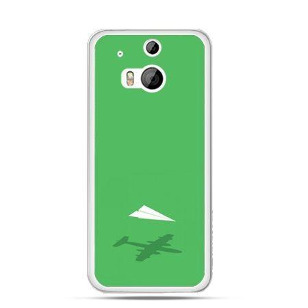 Etui na HTC One M8 Samolot z papieru