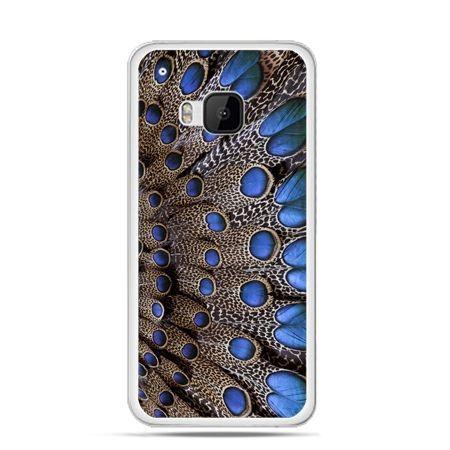 Etui na HTC One M9 Niebieskie pióra