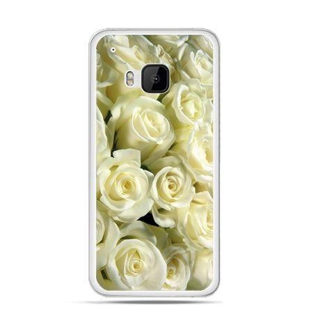 Etui na HTC One M9 Białe róże
