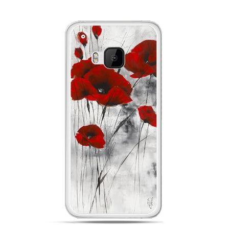 Etui na HTC One M9 Czerwone maki