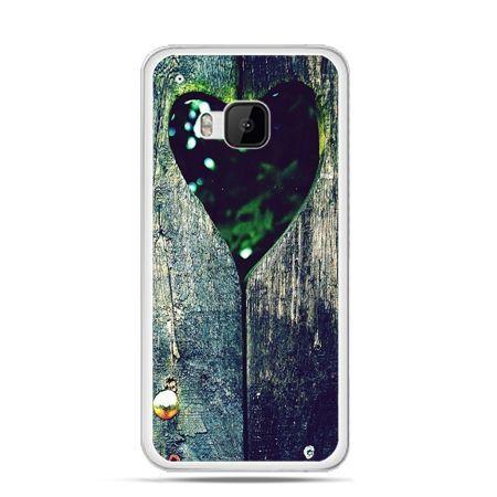 Etui na HTC One M9 Drewniane serce