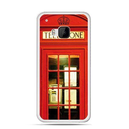 Etui na HTC One M9 Czerwona budka telefoniczna