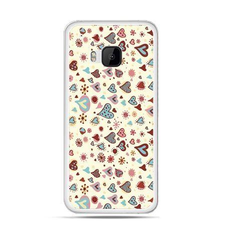 Etui na HTC One M9 Kolorowe serca