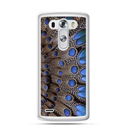 Etui na LG G3 Niebieskie pióra