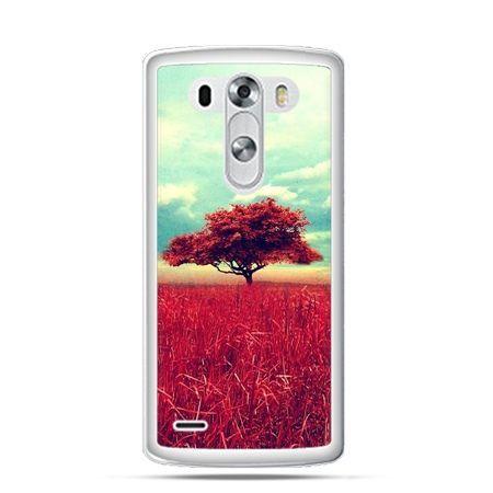 Etui na LG G3 Czerwone drzewo