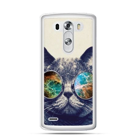 Etui na LG G3 Kot w tęczowych okularach