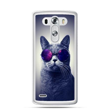 Etui na LG G3 Kot hipster w okularach