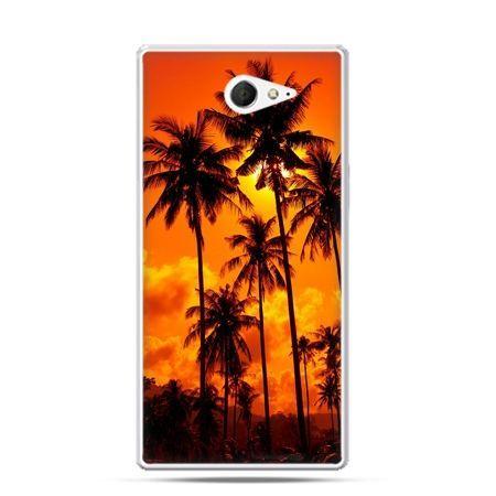 Sony Xperia M2 etui palmy nocą