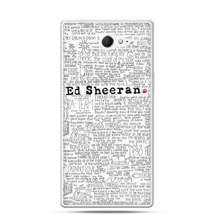 Sony Xperia M2 etui Ed Sheeran