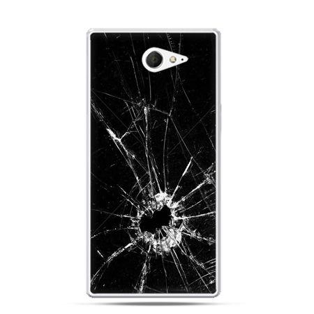 Sony Xperia M2 etui rozbita szyba