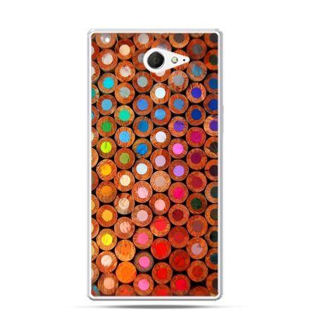 Sony Xperia M2 etui kolorowe kredki