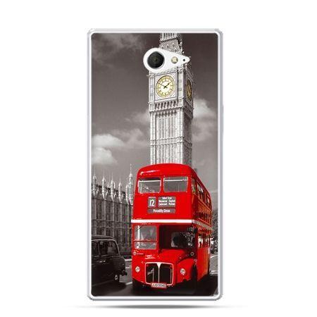 Sony Xperia M2 etui czerwony autobus Londyn