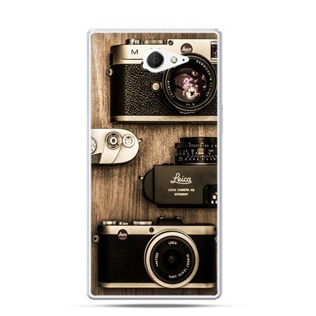 Sony Xperia M2 etui aparaty Leica retro