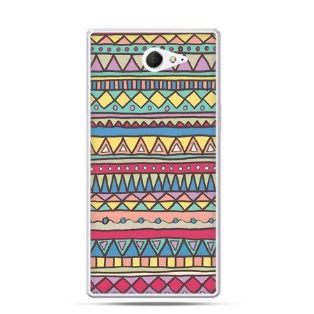 Sony Xperia M2 etui azteckie trójkąty