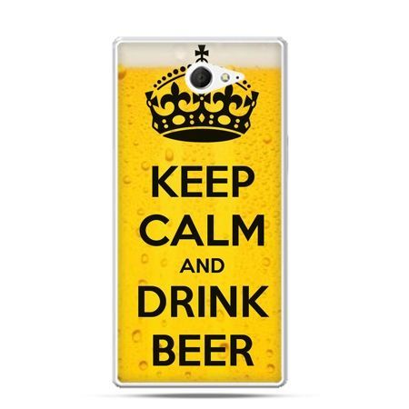 Sony Xperia M2 etui Keep Calm...Beer