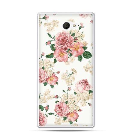 Sony Xperia M2 etui kwiaty