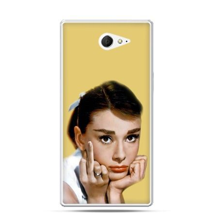 Sony Xperia M2 etui Audrey Hepburn fuck you