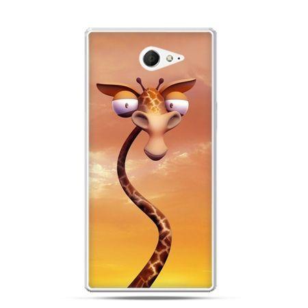 Sony Xperia M2 etui śmieszna żyrafa