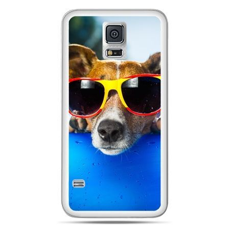 Galaxy S5 Neo etui pies w kolorowych okularach