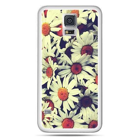 Galaxy S5 Neo etui stokrotki