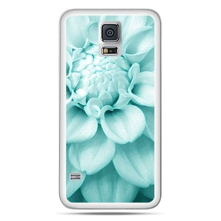 Galaxy S5 Neo etui niebieski kwiat dalii